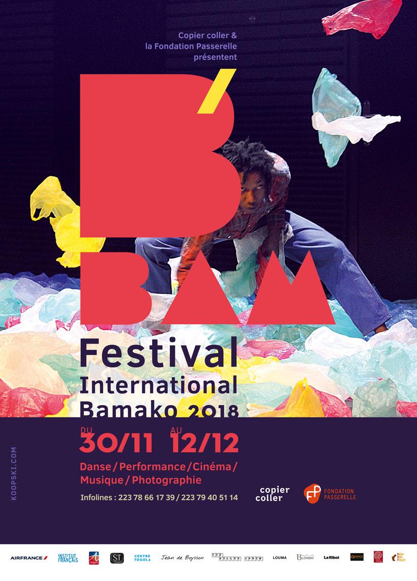 visuel flyer BAM festival Tidiani N'Diaye Koopski